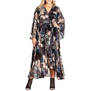 NWOT flowy floral maxi dress